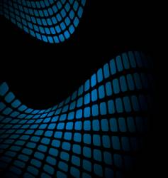 wavy blue mesh vector image
