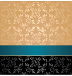 seamless pattern floral decorative background vector image