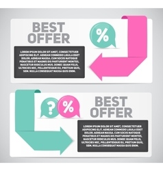 Best offer sale banner with place for your text vector