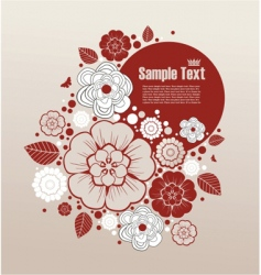 floral frame for text vector image
