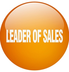 Leader of sales orange round gel isolated push vector
