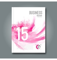 Business design report and spots pink geometric vector image