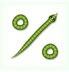 Snake font percent symbol vector