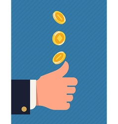 Throwing coin vector
