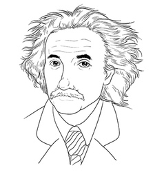 Albert Einstein vector image