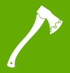 Axe in blood icon green vector