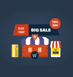 Black friday online shopping secure payment vector