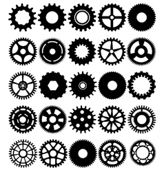 Cogs and gears vector image vector image