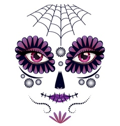 Day of Dead Girl Face10 vector image vector image