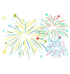 Firework in many colors vector image vector image