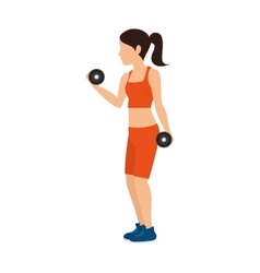 girl trainning design vector image