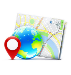 global navigation concept vector image vector image