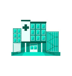 Hospital building isolated vector