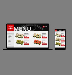 Japanese food online shop concept vector