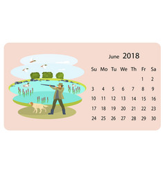 monthly calendar 2018 vector image