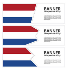 Netherlands flag banners collection independence vector