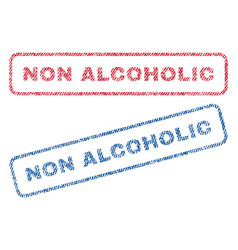 non alcoholic textile stamps vector image vector image