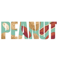 Peanut sign vector image vector image