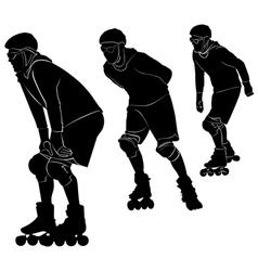 Roller skating vector