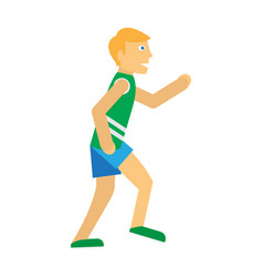 Running man sports icon vector