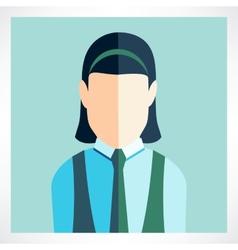 Schoolgirl flat icon vector image