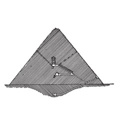 section of great pyramid egyptian architecture vector image vector image