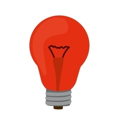 Silhouette with red bulb light on vector