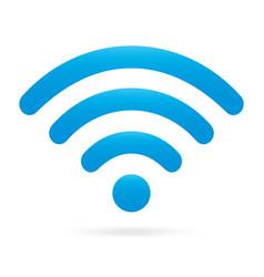 sky light blue wifi icon wireless symbol on vector image