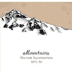 Snow peak vector