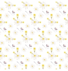 Spring wild flower yellow and beige field seamless vector image vector image