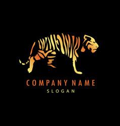Tiger logo 2 balck background vector
