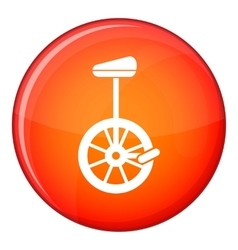 Unicycle icon flat style vector