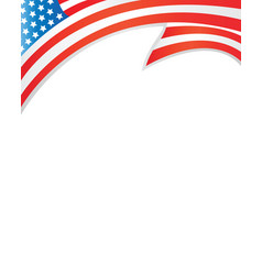 usa flag border template vector image vector image