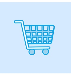 Shopping trolley icon simple blue vector