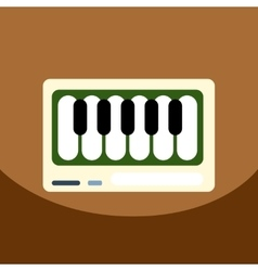 Flat icon design collection musical vector