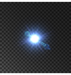 Lens flare effect of shining star light vector