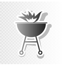 Barbecue with fire sign  new year blackish vector