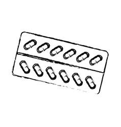 Packaging capsule medicine pharmacy care vector