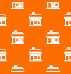 One-storey house pattern seamless vector
