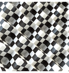 3d perspective view of a chess board vector image