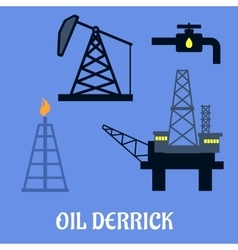 Oil derrick and mining concept vector