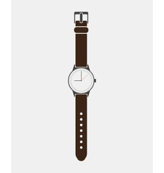 Trendy painted watch on a white background vector