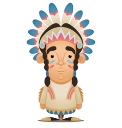 Native american character vector