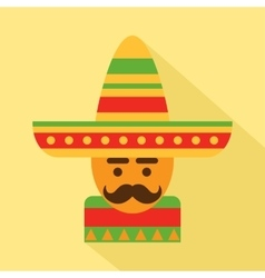 Mexican man in sombrero vector