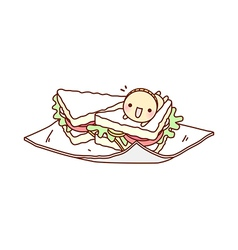 A sandwich vector image