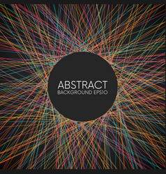 abstract colorful random thin lines background vector image vector image
