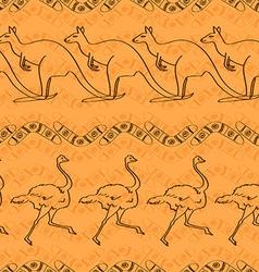 Australian seamless pattern vector