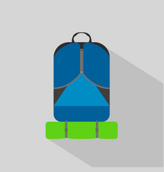 Backpack hiking camping flat icon vector