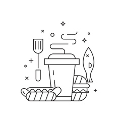 Barbeque party icons set vector image