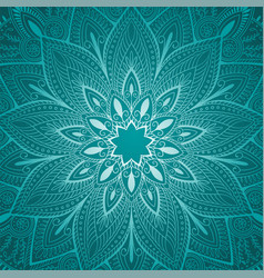 Beautiful blue mandala floral background vector